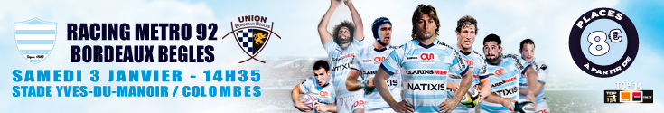 bannière Racing metro vs Bordeaux