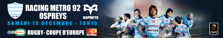 bannière Racing metro vs Ospreys