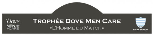 Racing Metro 92 vs Stade Fran�ais Paris : remise du troph�e Dove Men + Care