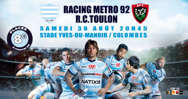 Racing / Toulon, le groupe toulonnais