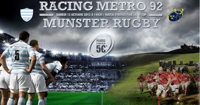 RM 92 vs Munster - Derni�res places � 5 euros